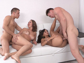 Double date and double fucking